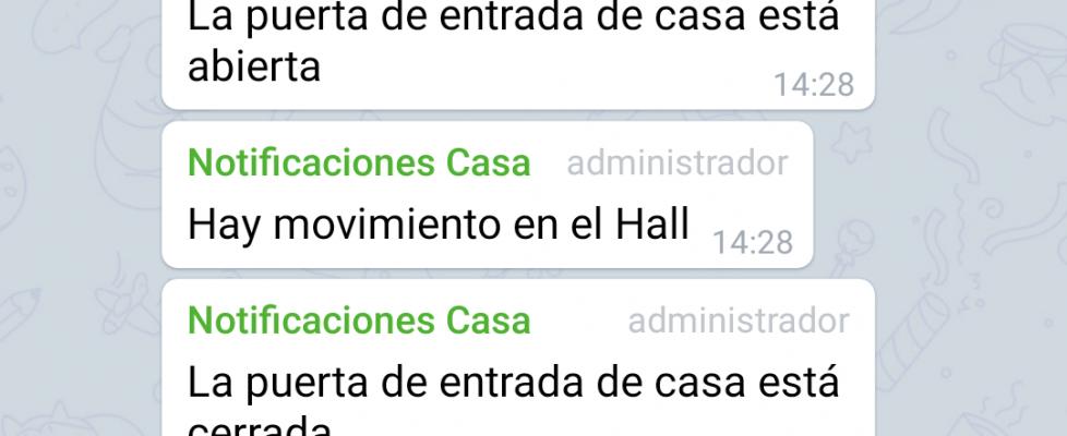 Enviando alertas de Telegram con Home Assistant o Hassio
